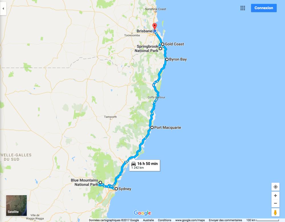 road trip sydney brisbane